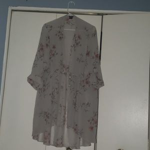 Floral, see through, botton up shirt!